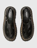 Burberry Smooth Leather T-bar Shoes With Check Detail Black/archive Beige Women
