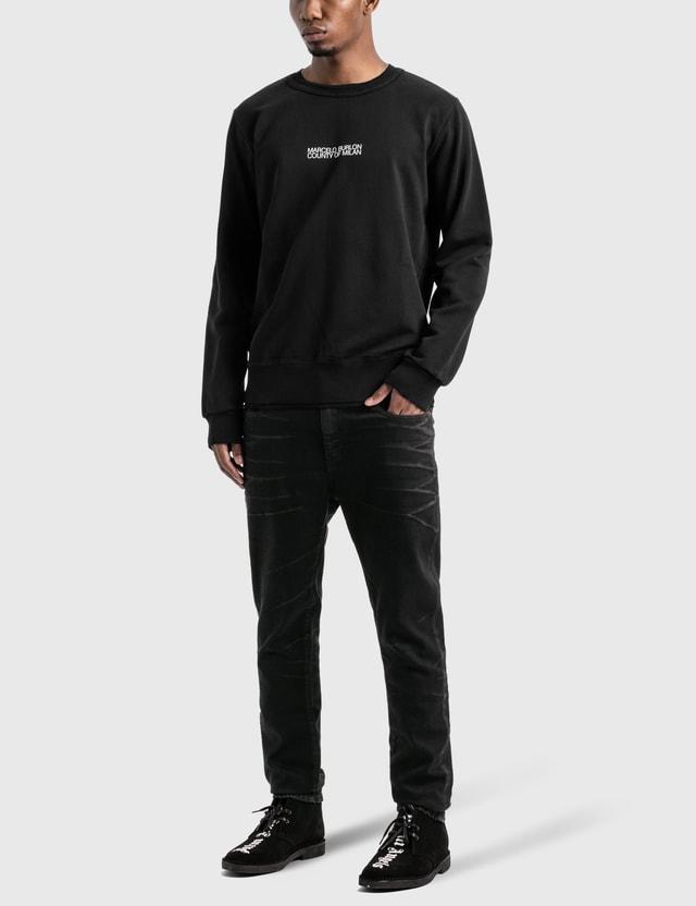 Marcelo Burlon Multi Faces Sweatshirt Black White Men