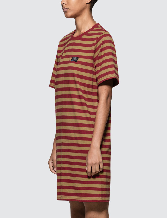 Stussy Murrat Stripped T Shirt Dress