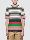 Loewe Double Layer Stripe S/S T-Shirt 사진
