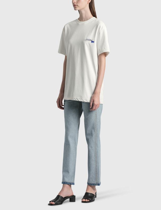 Ader Error Foil Tape Logo T-Shirt Off White (offwht) Women