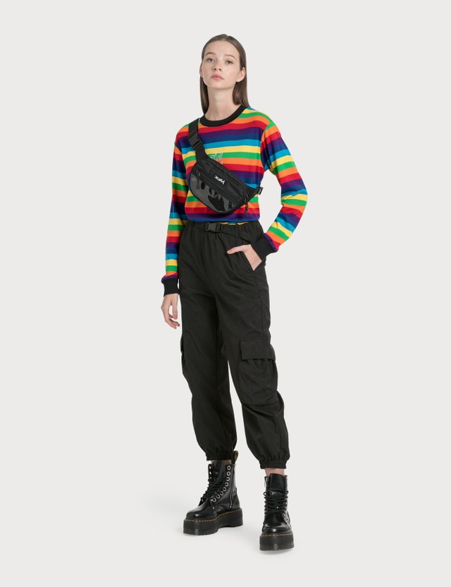 X-Girl PVC Pocket Hip Bag Black Women