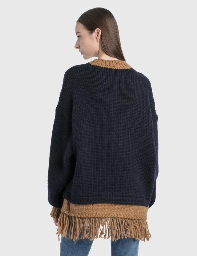 Palm Angels Bear Fringed Sweater