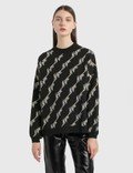 MSGM Allover Logo Knit Pullover Picture