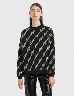 MSGM Allover Logo Knit Pullover