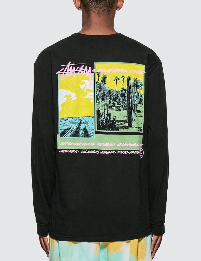 Stussy Palm Desert Pigment Dyed Long Sleeve T-Shirt