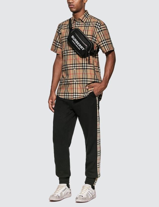 Burberry Vintage Check Short Sleeve Shirt Archive Beige Ip Chk Men