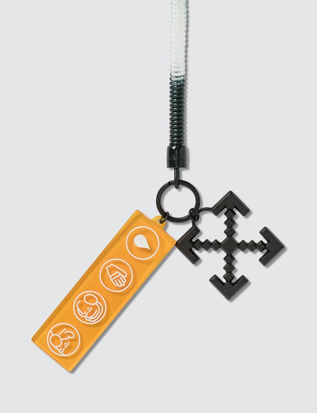 Off-White Industrial Y013 Bungee Key Ring Green Orange Men