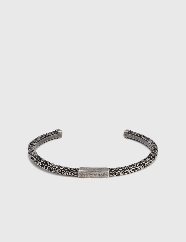 Maison Margiela Embossed Bracelet Argento Vecchio Semi Polished Men