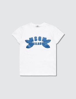 MSGM G's Blue Logo Print T-Shirt