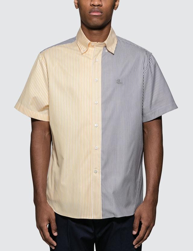 Lanvin Stripe Patch Embro S/S Shirt