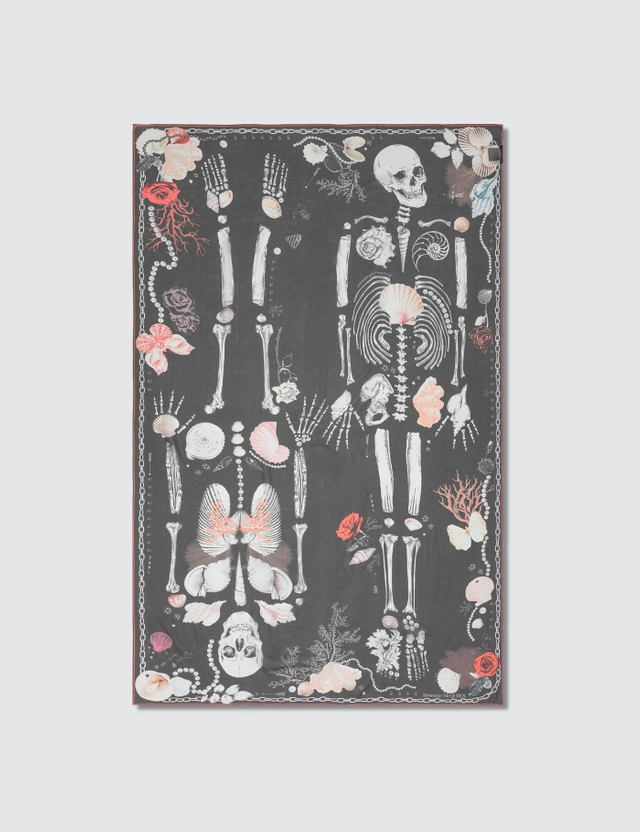 Alexander McQueen Sailor Treasure Skull Silk Scarf
