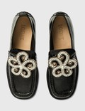 Loewe Croc Embossed Calfskin Loafer Black Women