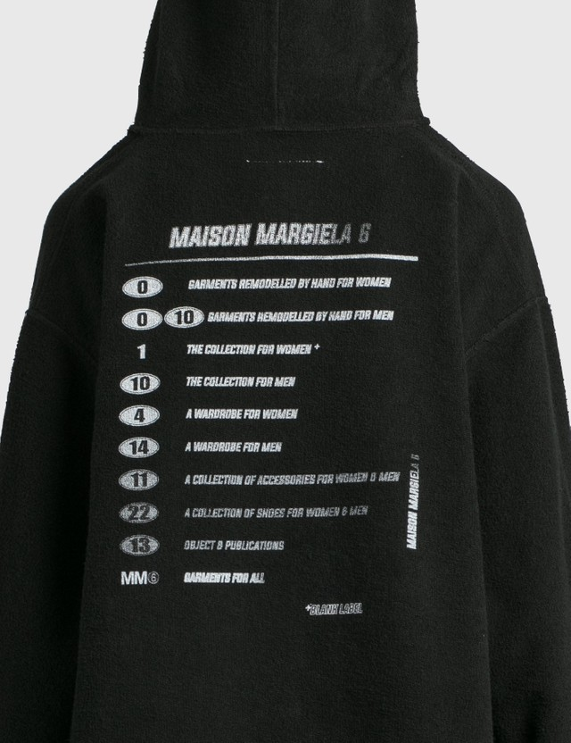 MM6 Maison Margiela Oversized Printed Hoodie Black Women
