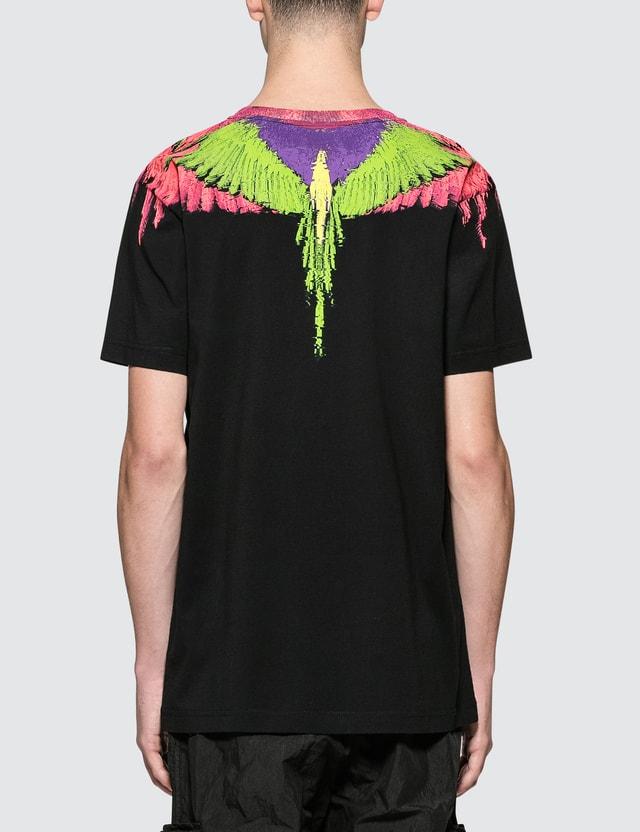 Marcelo Burlon Fluo Glitch Wings S/S T-Shirt
