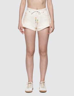 JW Anderson Flared Cuff Denim Shorts