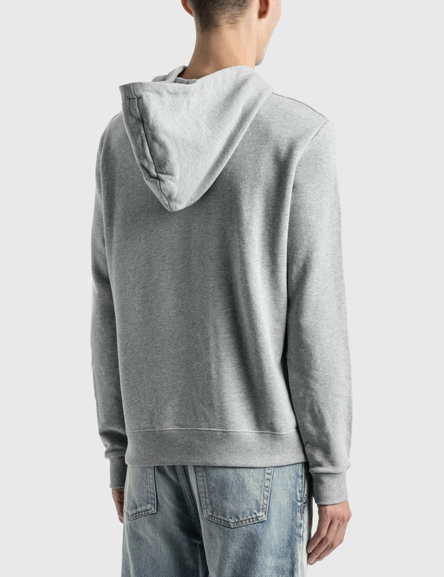 Saint Laurent Saint Laurent Logo Hoodie Gris Chine Men
