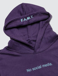 F.A.M.T. Kids' No Social Media. Hoodie Plum Kids