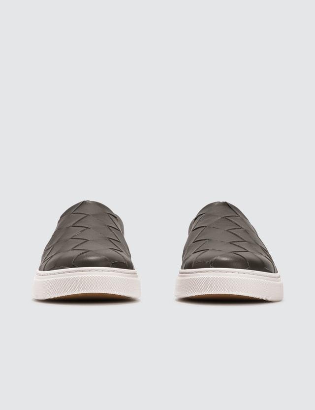 Bottega Veneta Classic Weave Slip On Sneakers Light Green Men