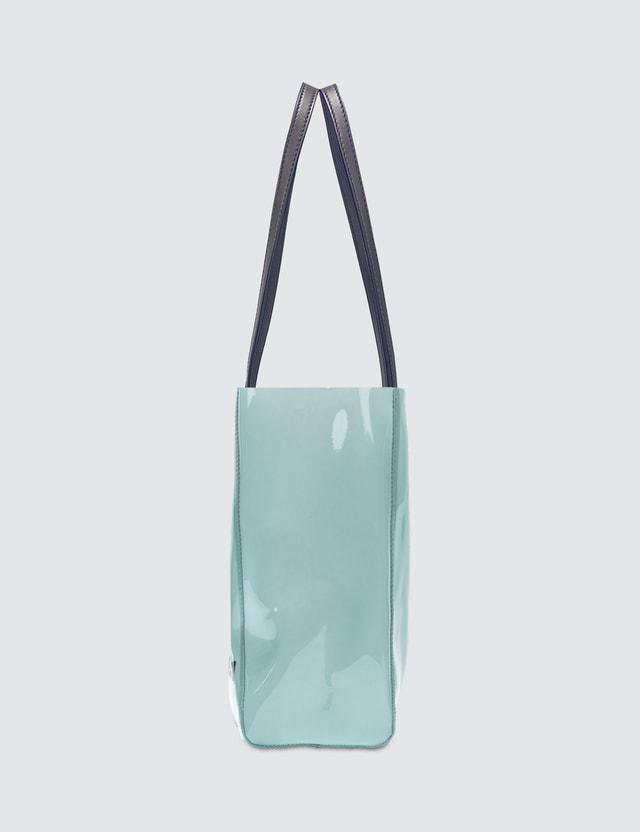 Stella McCartney Pastel Blue Clear Logo Tote Bag