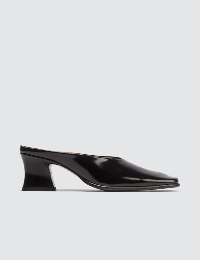 BY FAR Black Kim Regent Mules