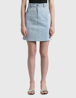 Marine Serre Regenerated Denim Skirt
