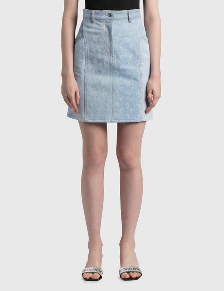 마린세르 Marine Serre Regenerated Denim Skirt