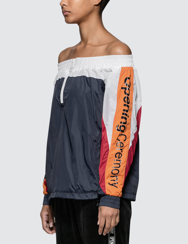 Opening Ceremony Off The Shoulder Warm-up Anorak