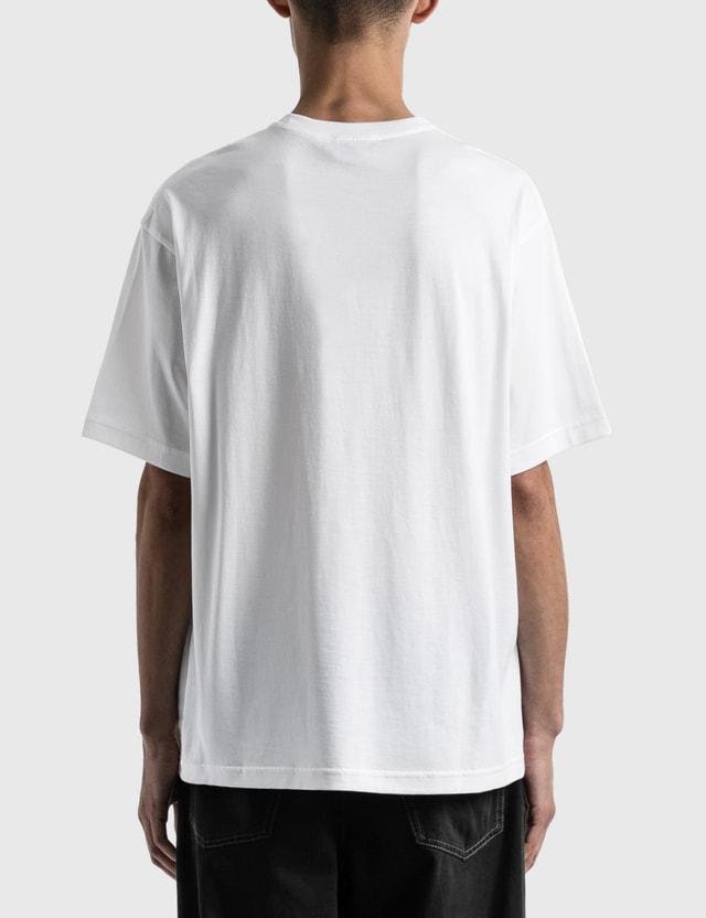 Acne Studios Exford Metallic Face T-shirt White Men