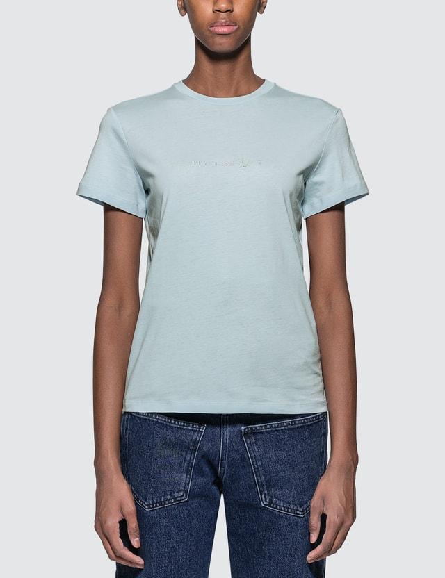 Helmut Lang Alien T-shirt Blue Women