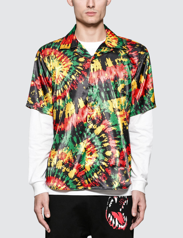 SSS World Corp Hawaiian S/S Shirt Black/multi Sc57 Men