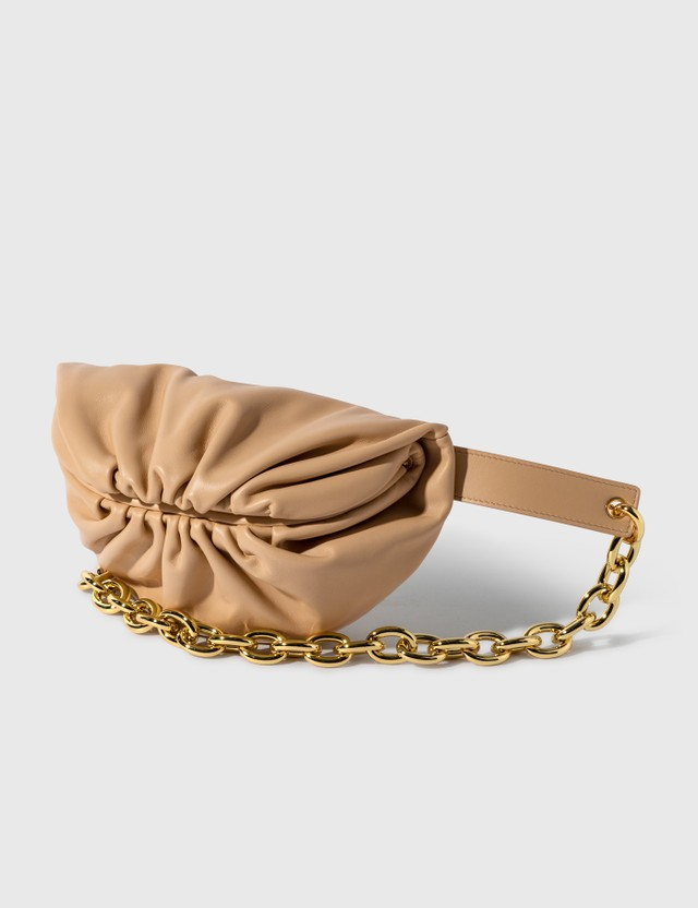 Bottega Veneta The Belt Chain Pouch Almond-gold Women