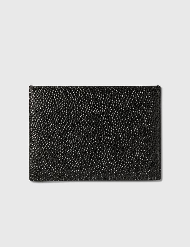 Thom Browne Single Card Holder Black Men