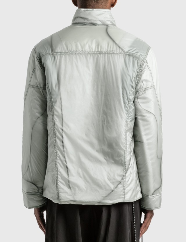 Hyein Seo Transparent Padded Jacket Light Grey Men
