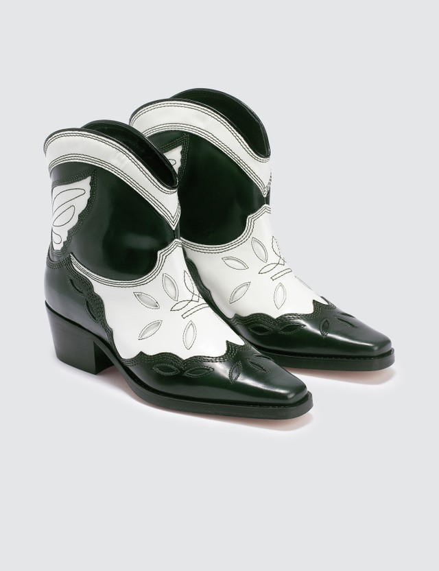 Ganni Low Teaxas Ankle Boots