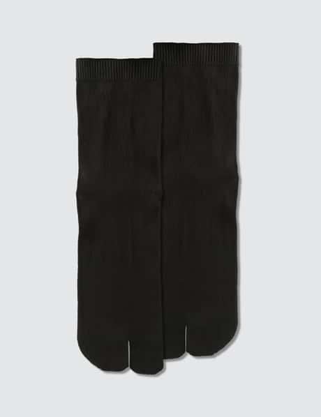 메종 마르지엘라 타비 양말 - 블랙 Maison Margiela Tabi Socks