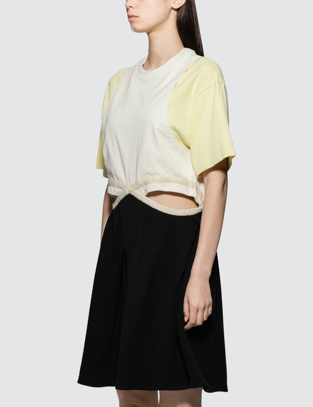 JW Anderson Contrast Cut Out Dress