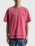 Ader Error Needle Logo Layered T-shirt Red Men