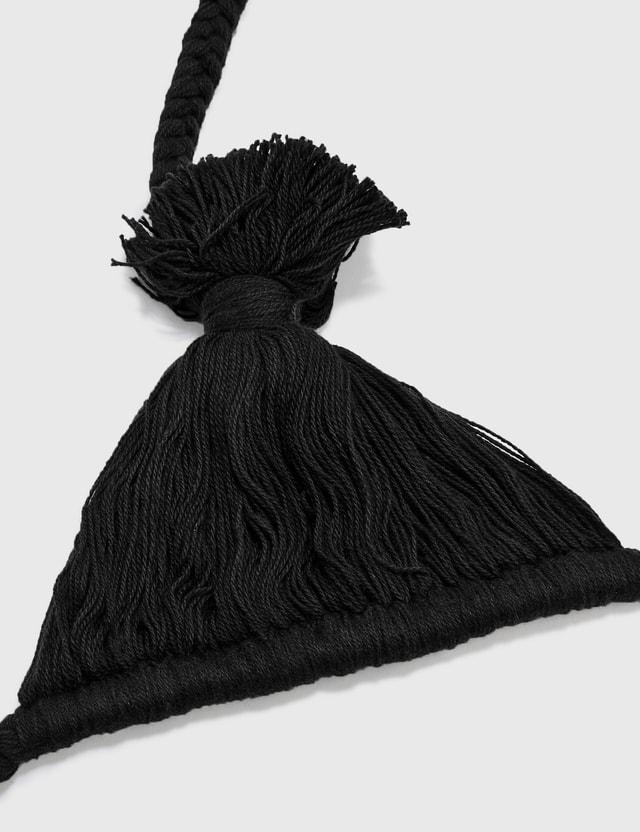 Random Identities Knitted Bra Black Unisex