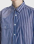 Sacai Cotton Poplin Shirt Random Stripe Men
