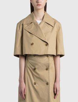 MM6 Maison Margiela Gabardine Cotton Cropped Trench Coat