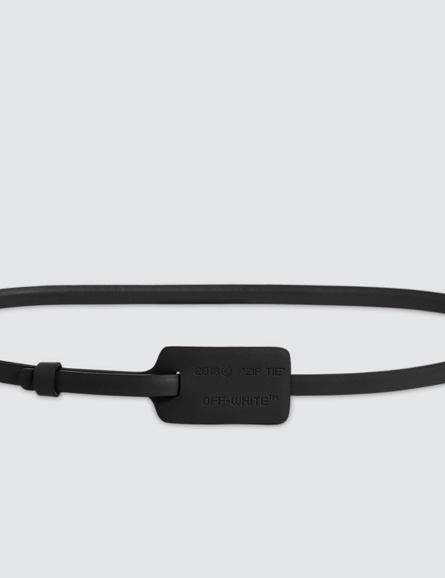 Off-White Zip Tie Belt