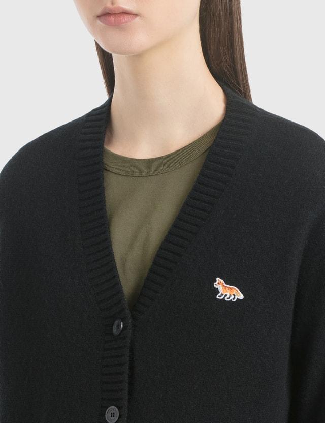 Maison Kitsune Profile Fox Patch V-Neck Cardigan