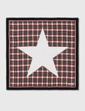 Burberry Star Motif Check Print Silk Square Scarf Picture