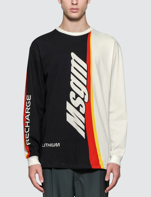 MSGM Battery Print L/S T-shirt