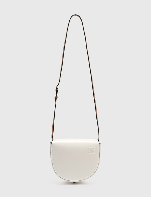 Loewe Heel Duo Bag Soft White/dark Tan Women