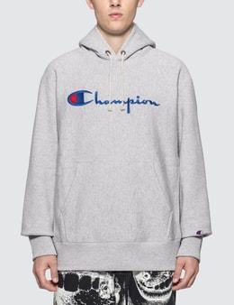Champion Reverse Weave Script Logo Reverse Weave Hoodie