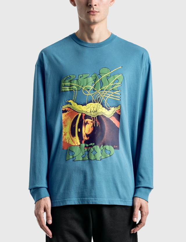 Brain Dead Puppet Long Sleeve T-Shirt Blue Men