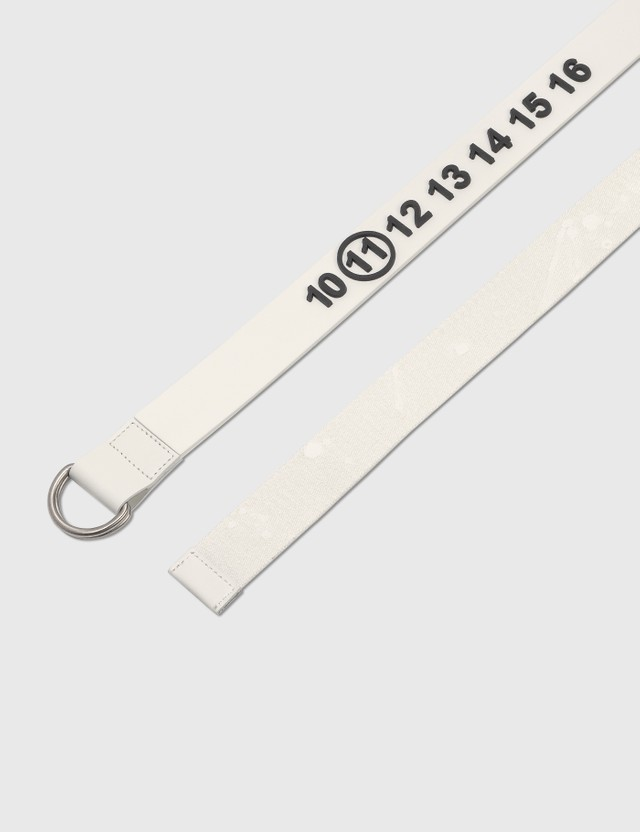 Maison Margiela Logo Rubber & Webbing Belt White/paint Men