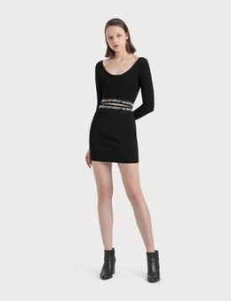 Alexander Wang.T Logo Elastic Mini Skirt